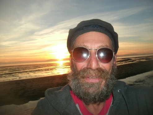 Old Man Enjoys Sunset